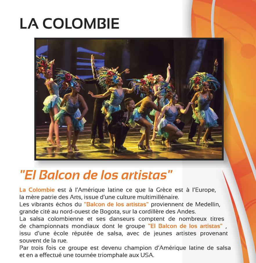 Festival Musiques et Danses du Monde – Juillet 2018 – LA COLOMBIE