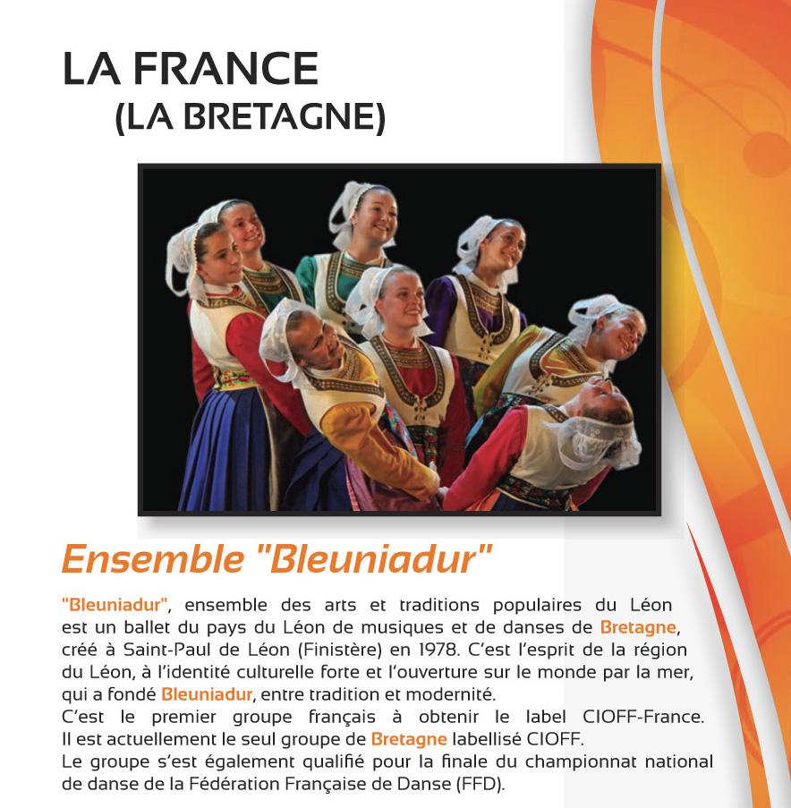 Festival Musiques et Danses du Monde – Juillet 2018 – LA FRANCE (La Bretagne)