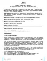 conseil municipal du 21 décembre 2017