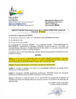12-2020 ARRETE TRAVAUX FIBRE OPTIQUE